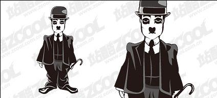 Chaplin vector material Free CDR Vectors Art