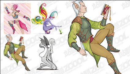 Wizard People vector material Free CDR Vectors Art