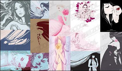 Foreign women Free CDR Vectors Art