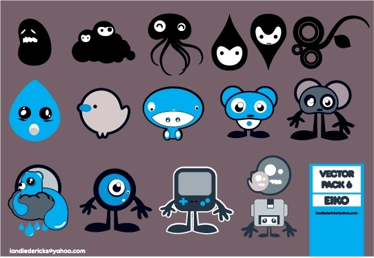 Pack of little things Free CDR Vectors Art