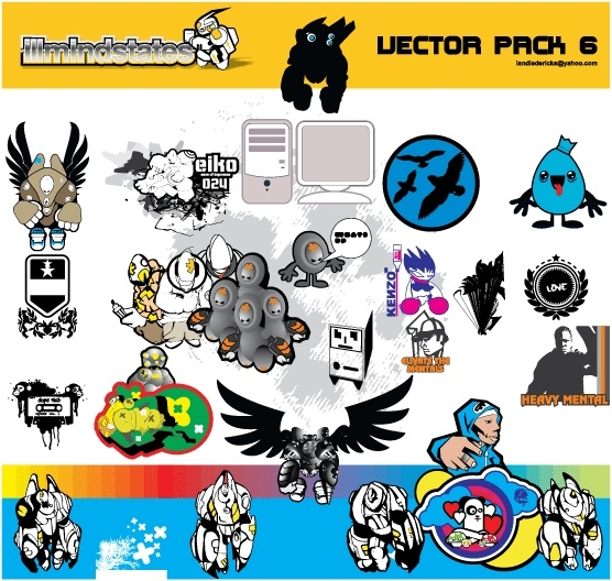Random vectors & doodles Free CDR Vectors Art