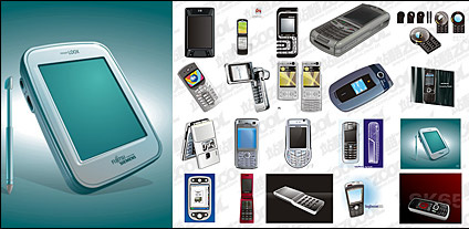 Cdr format of the mobile phone vector material Free CDR Vectors Art