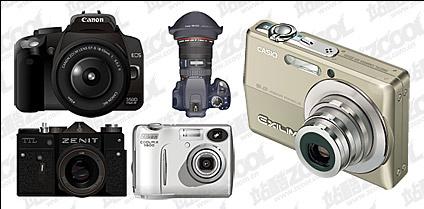 Digital cameras vector material Free CDR Vectors Art