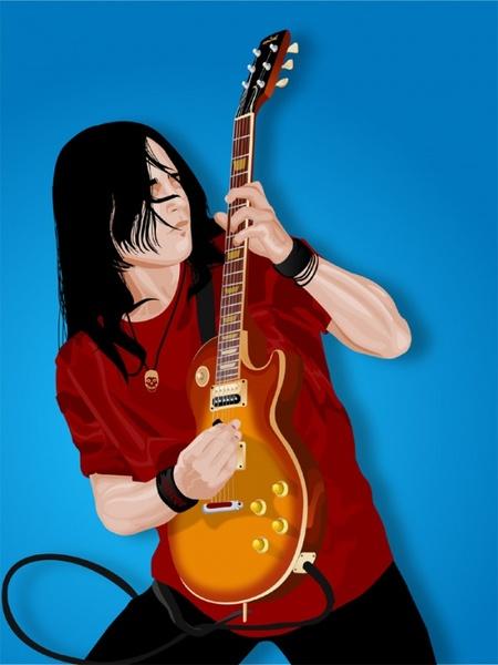 Guitar player  CDR Vectors Art