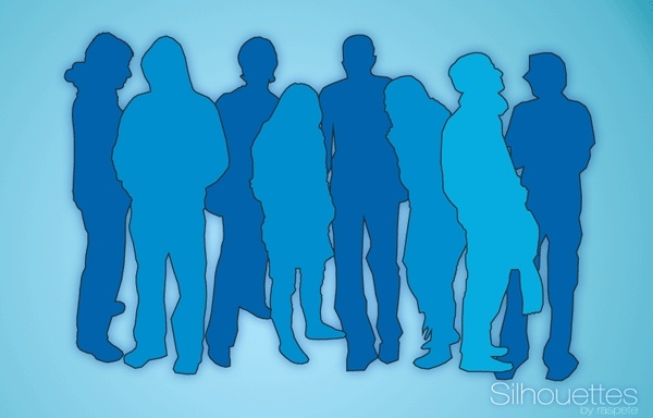 Silhouettes Free CDR Vectors Art