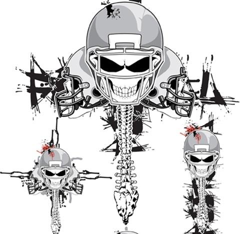 Vector Skeleton Football Helmets Free CDR Vectors Art