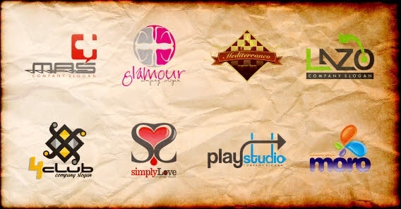 Logo sets collection texts and symbol elements style Free CDR Vectors Art