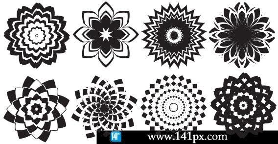 Abstract flower Free CDR Vectors Art