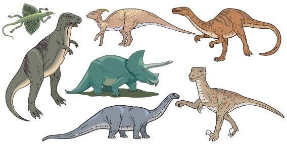 Dinosaurs Free CDR Vectors Art