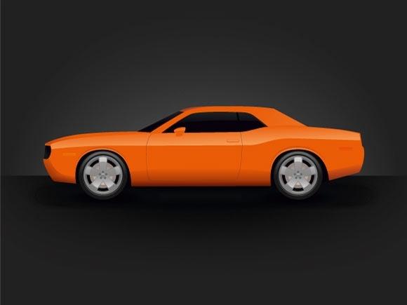 Dodge Challenger Free CDR Vectors Art