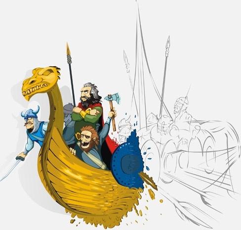 Vikings Free CDR Vectors Art