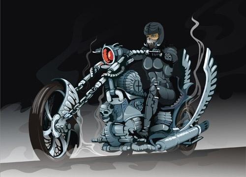 Biker Free CDR Vectors Art
