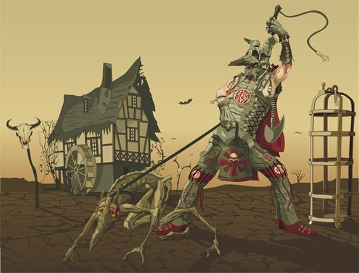 Witch Hunter Free CDR Vectors Art