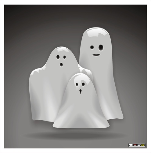 Ghost Family Free CDR Vectors Art