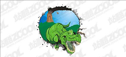 Dinosaur vector material Free CDR Vectors Art