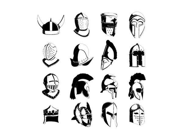 Lots of Helmets Free CDR Vectors Art