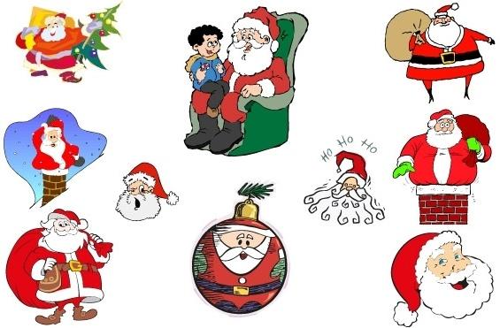 Simple Santa Vector Collection Free CDR Vectors Art