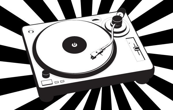 Music turntable Free CDR Vectors Art