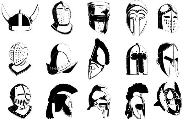 Lot of Helmets Free CDR Vectors Art