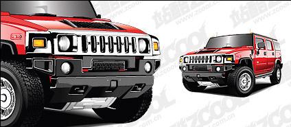 Hummer vehicle vector material Free CDR Vectors Art