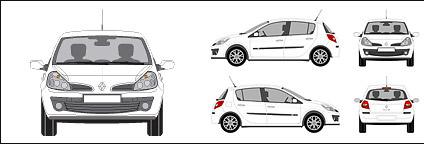 Renault Clio car Free CDR Vectors Art