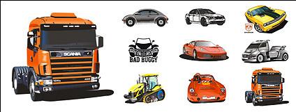 Cool car vector material Free CDR Vectors Art