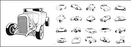Extremeclipart Vector material – classic cars Free CDR Vectors Art