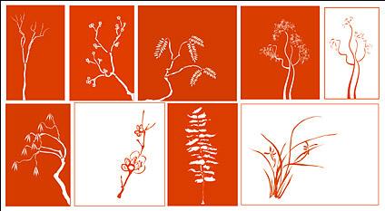 Vector classical plant material Free CDR Vectors Art