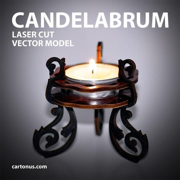 Cartonus Candelabrum 40mm Free CDR Vectors Art