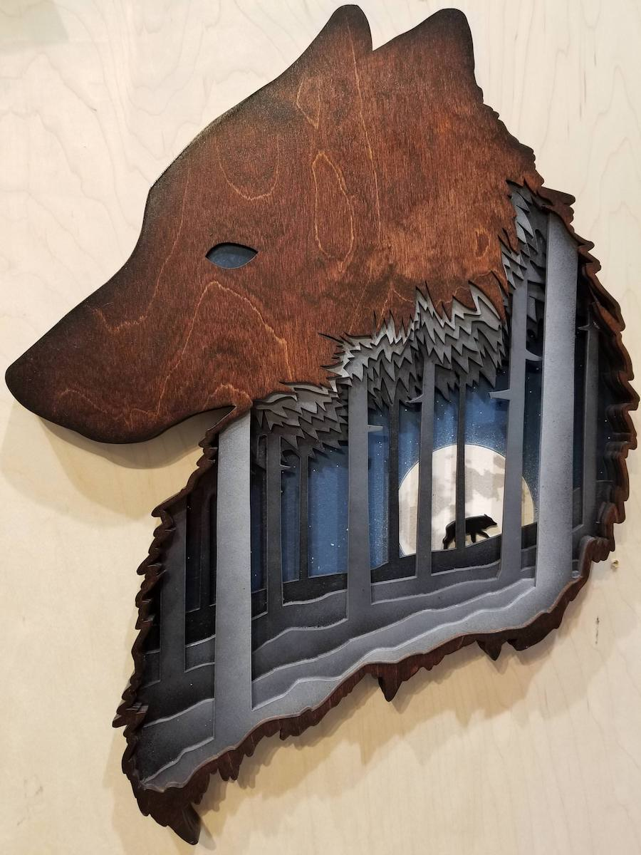 Wolf Art Arch Free CDR Vectors Art