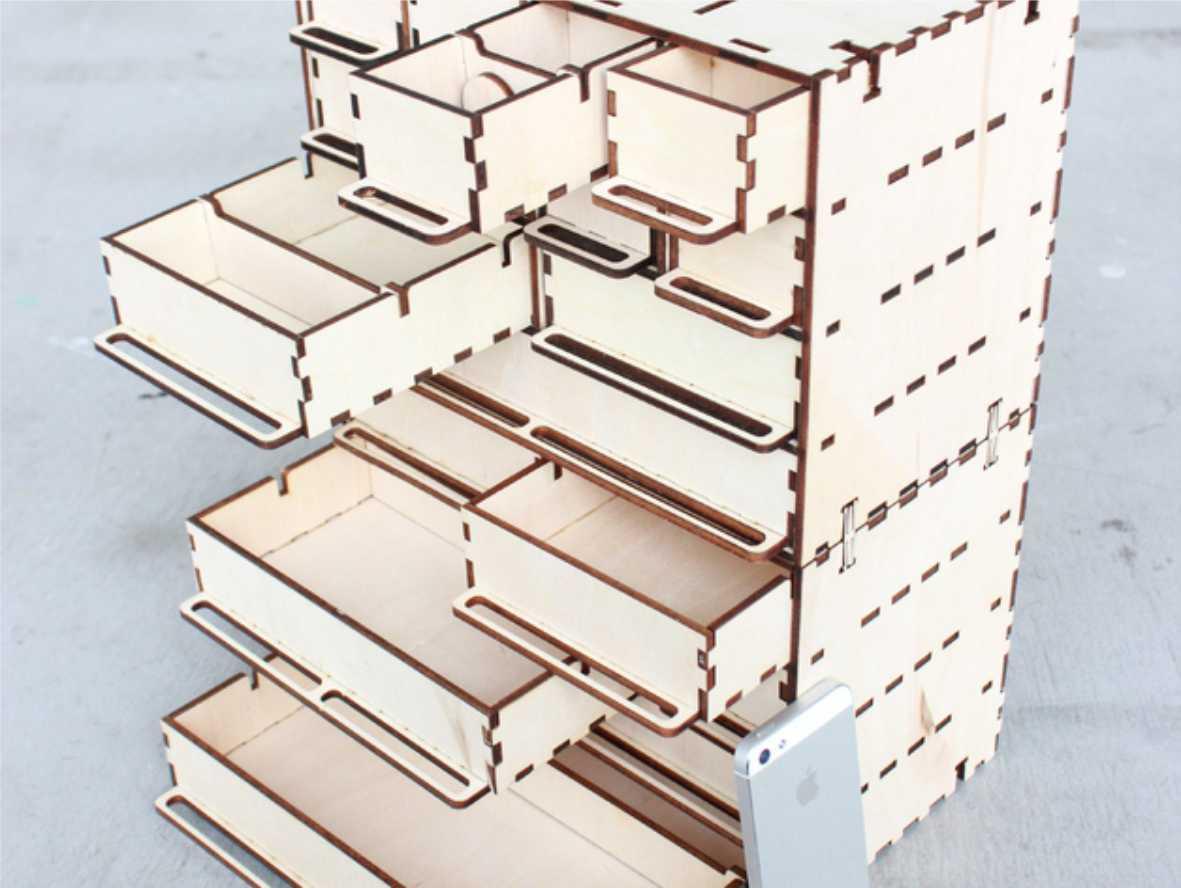 Wooden box template Free CDR Vectors Art