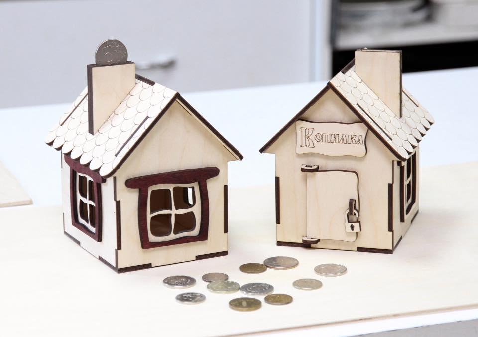 Wood Money Box Laser Cut Piggy Bank Free CDR Vectors Art