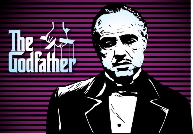 Marlon Brando Godfather Poster Free CDR Vectors Art