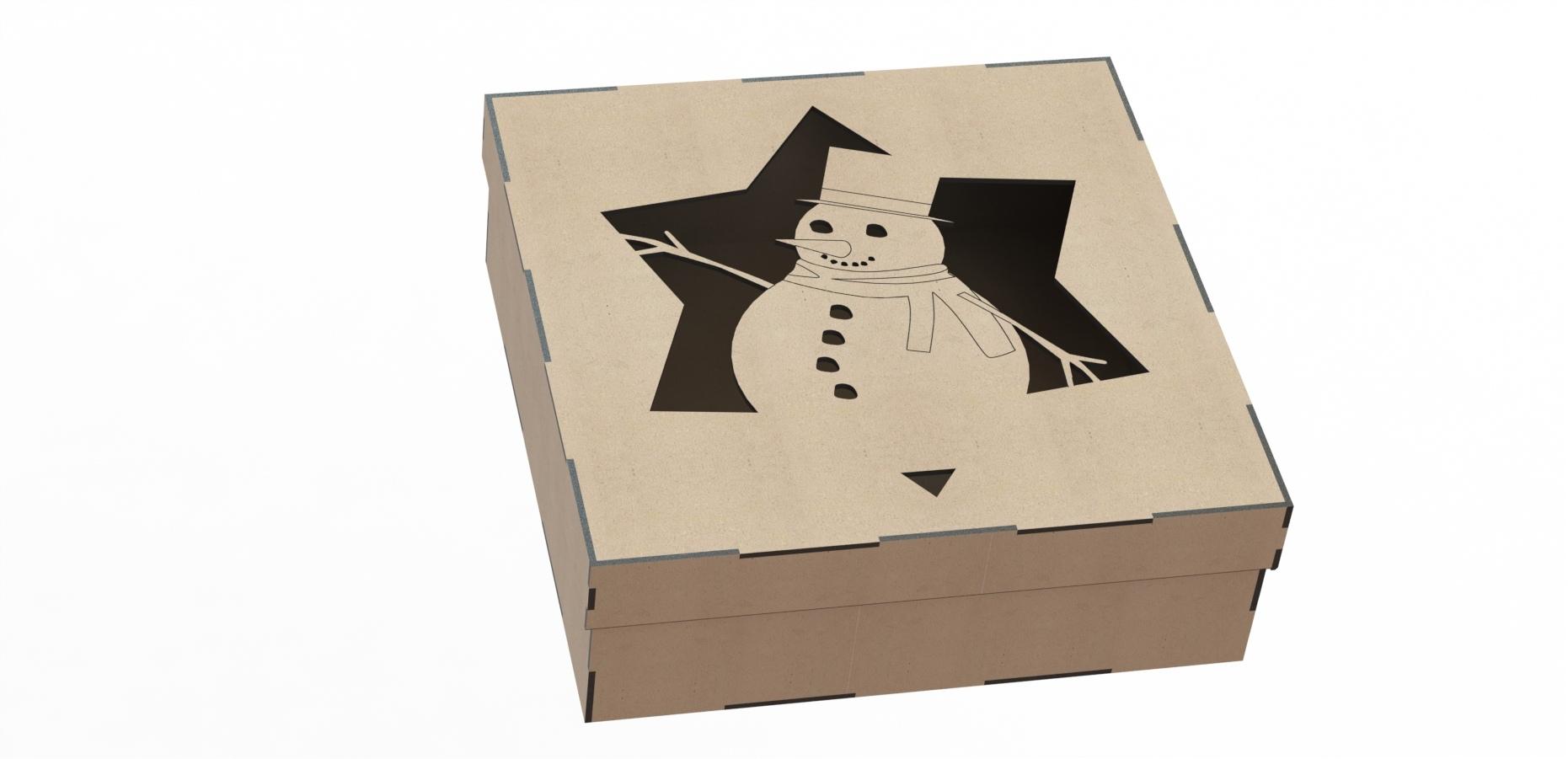 Laser Cut Wood Box Template Free CDR Vectors Art