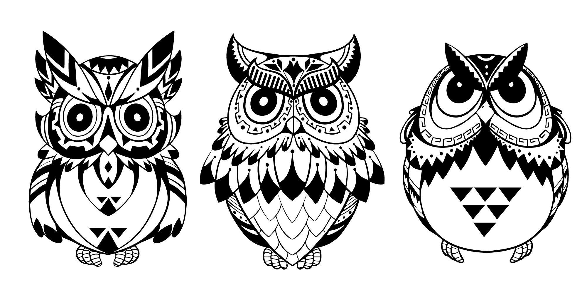 Owls Free CDR Vectors Art