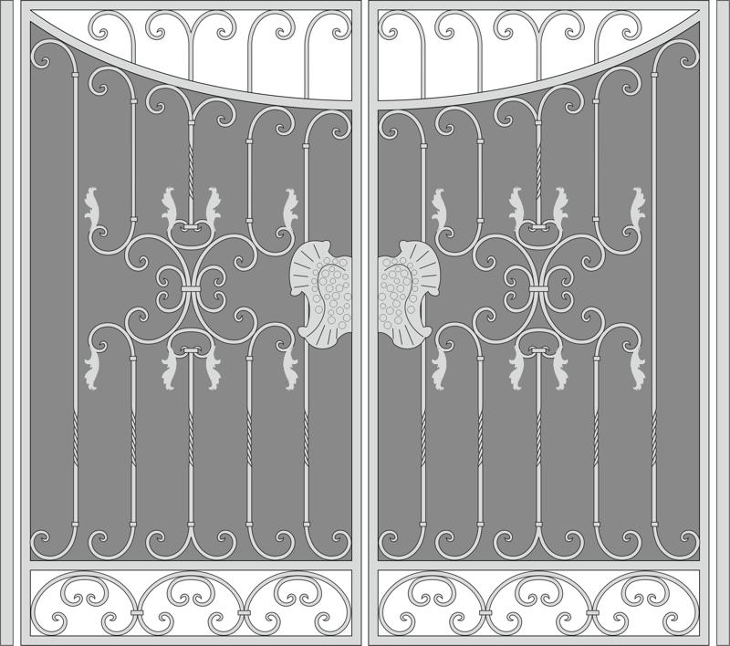 Forged Iron Gate Free CDR Vectors Art
