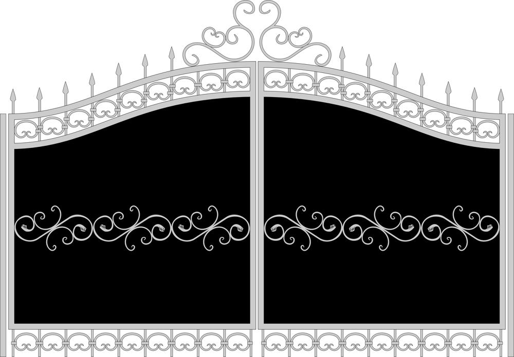 Forged gate sketch Free CDR Vectors Art