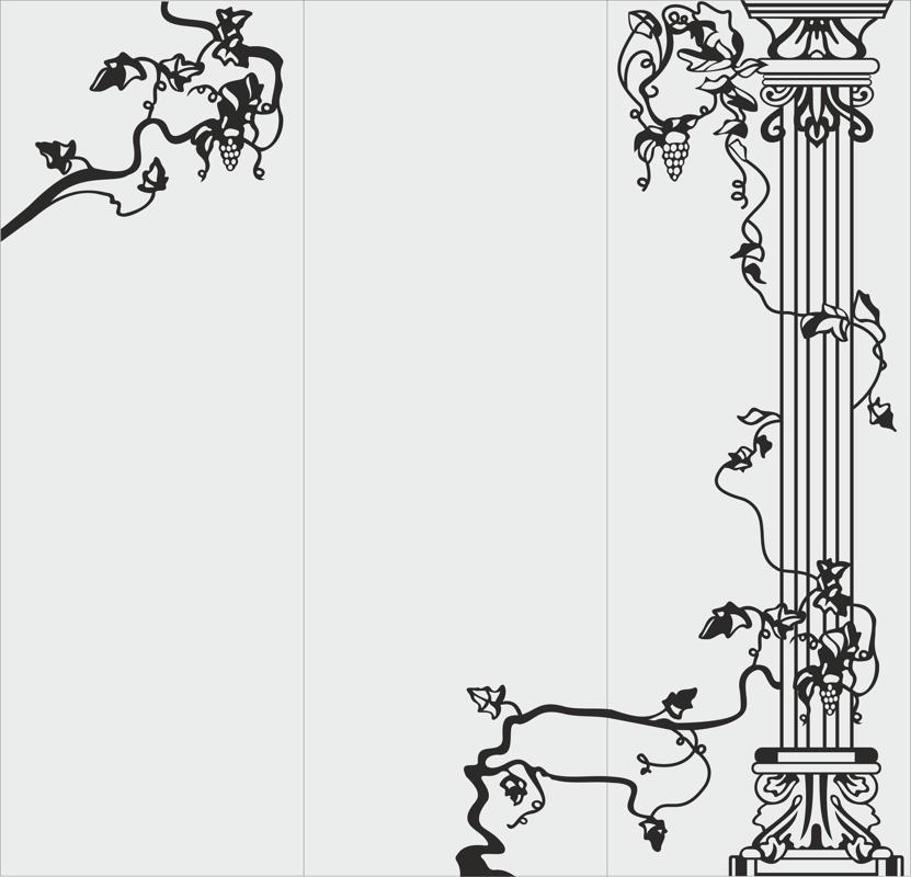 Flower Vector graphics for sandblasting Free CDR Vectors Art