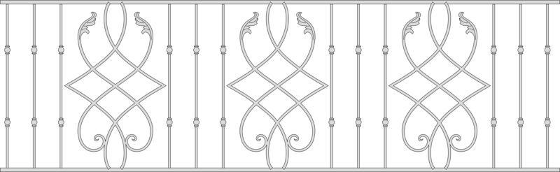 Wrought iron railings model Free CDR Vectors Art