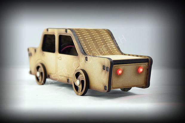 Laser Cut Car Free CDR Vectors Art