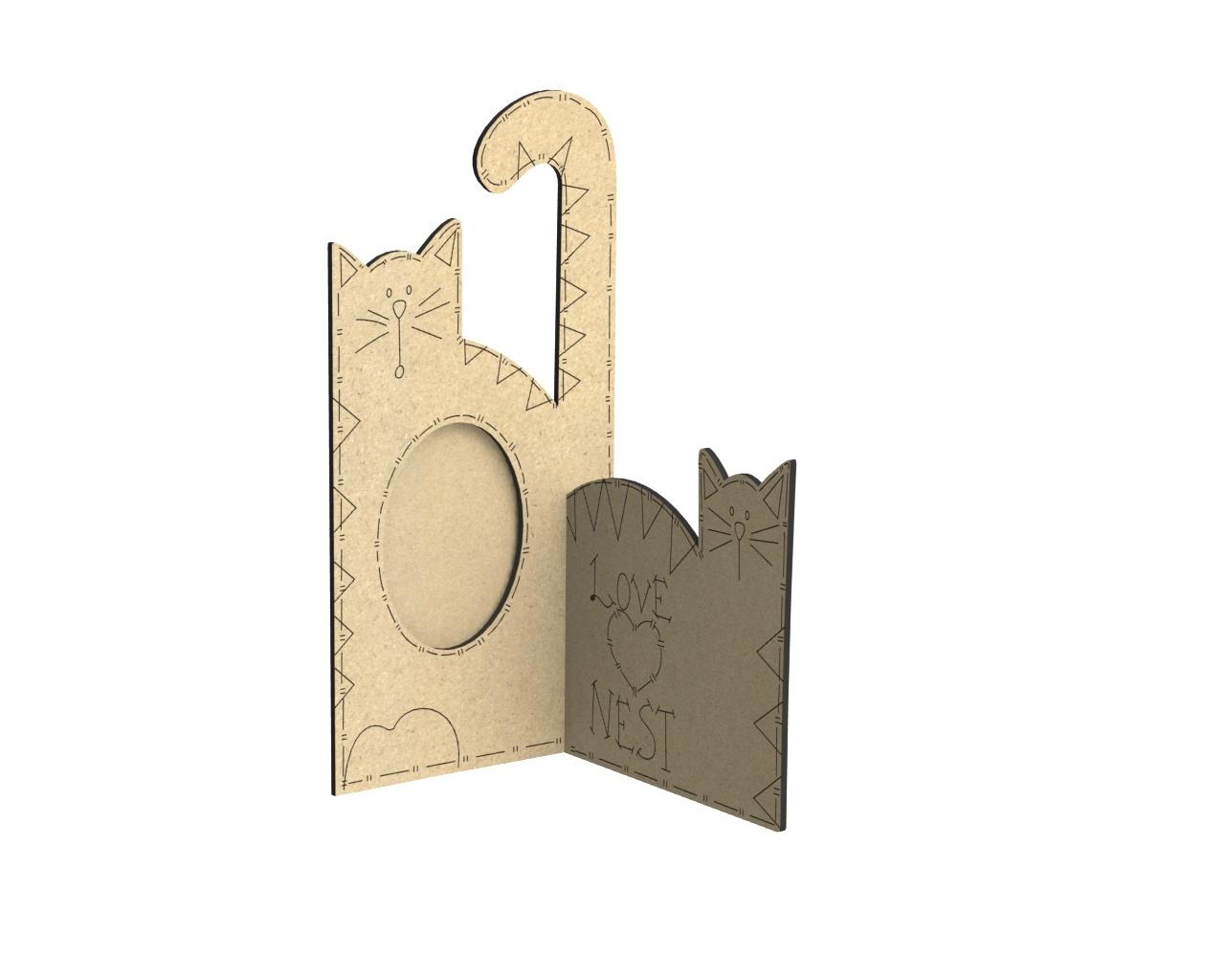 Porta Retrato Gato Free CDR Vectors Art