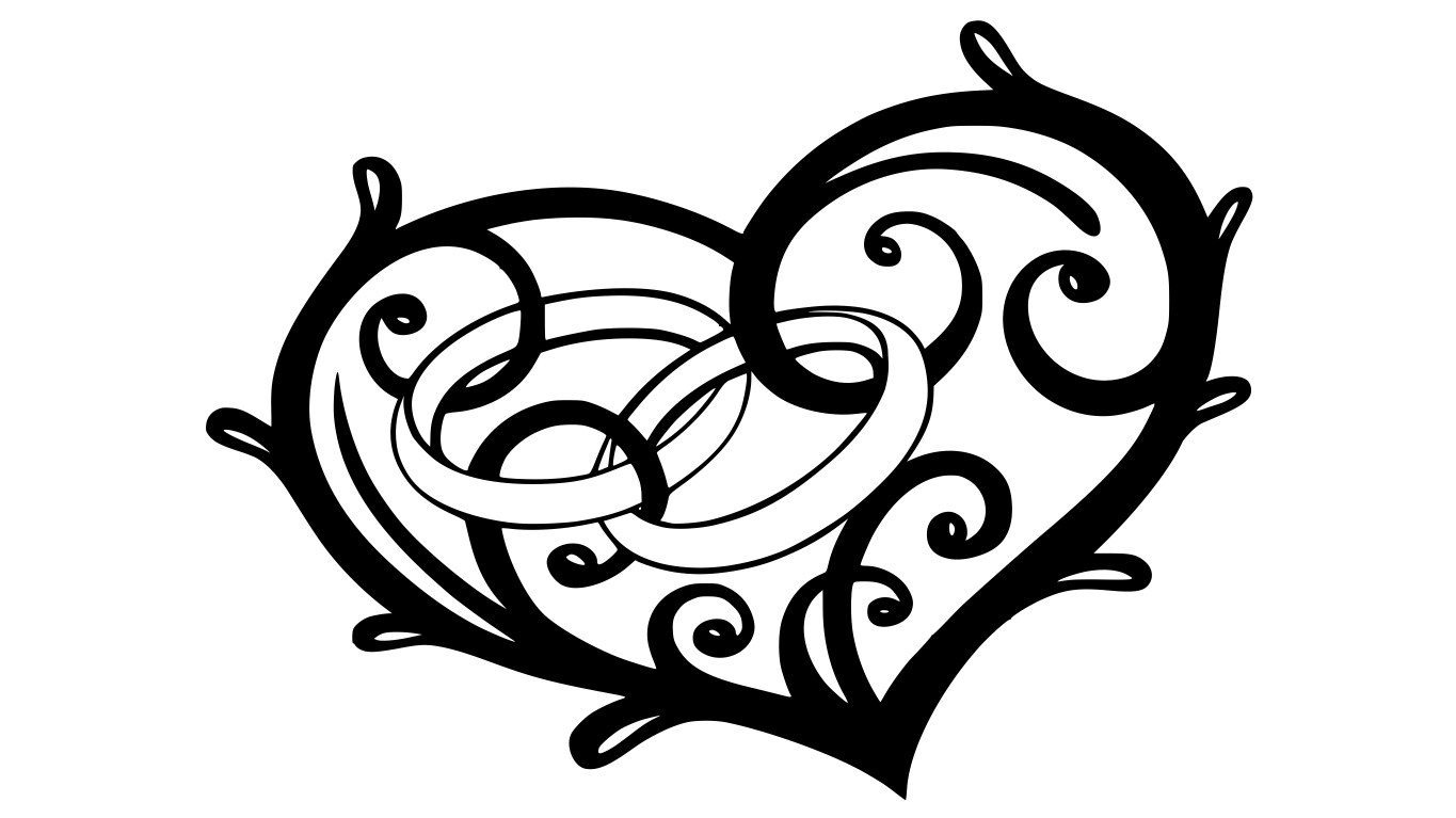 Engagement Ring In Heart Free CDR Vectors Art
