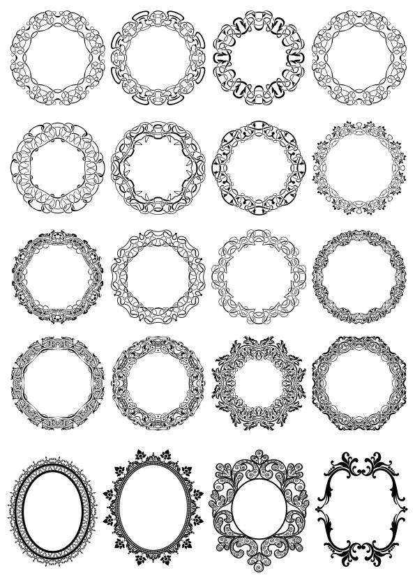Circle Floral Borders Free CDR Vectors Art