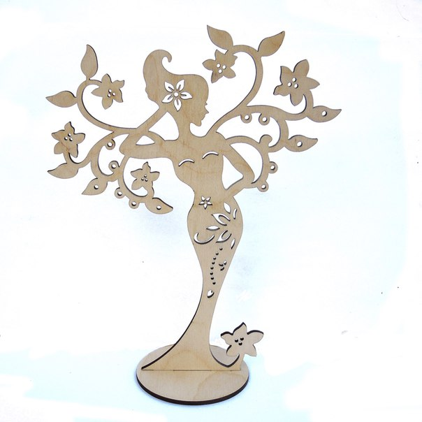 Woman Jewelry Stand Laser Cut Free CDR Vectors Art