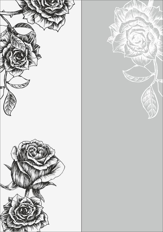 Rose Sandblast Pattern Free CDR Vectors Art