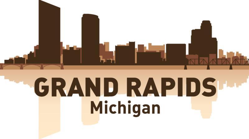 Grand Rapids Skyline Free CDR Vectors Art