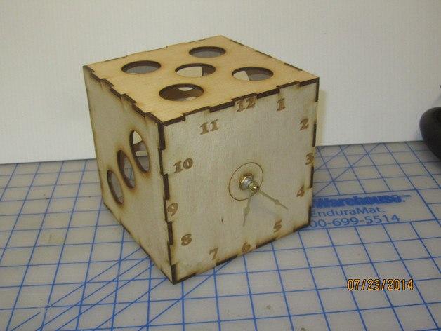Dice Clock 5 Inch Free CDR Vectors Art