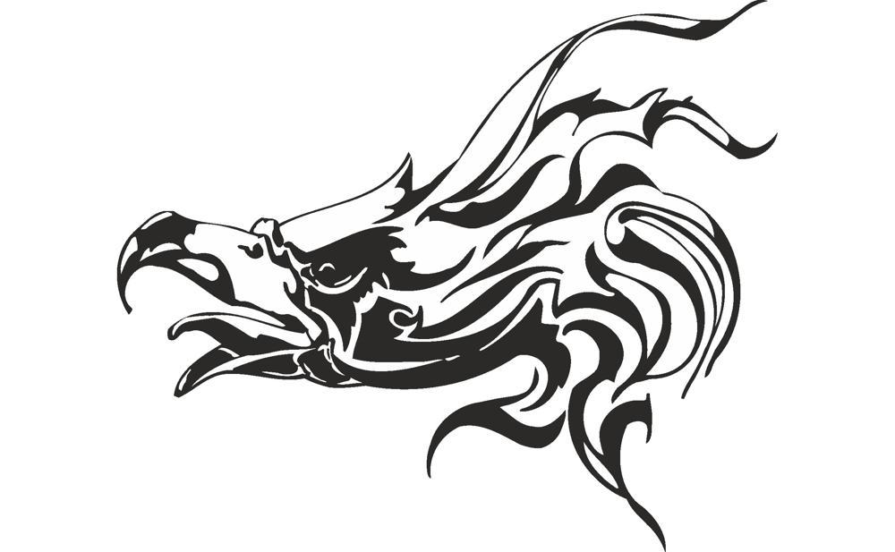 Vector illustration of Eagle head Free CDR Vectors Art