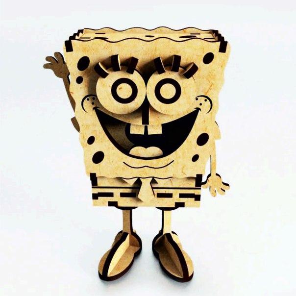 SpongeBob Laser Cut Free CDR Vectors Art