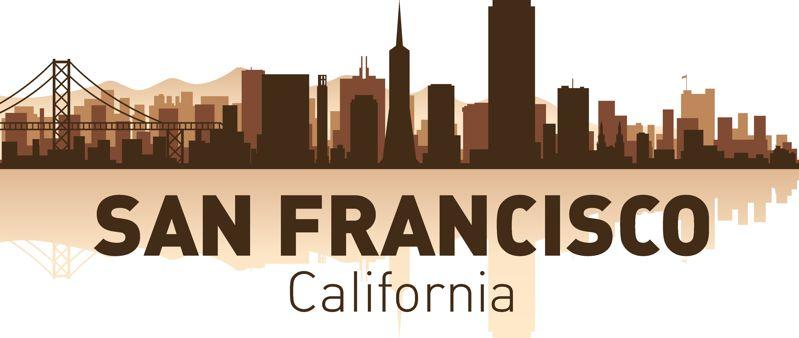 San Francisco Skyline Free CDR Vectors Art